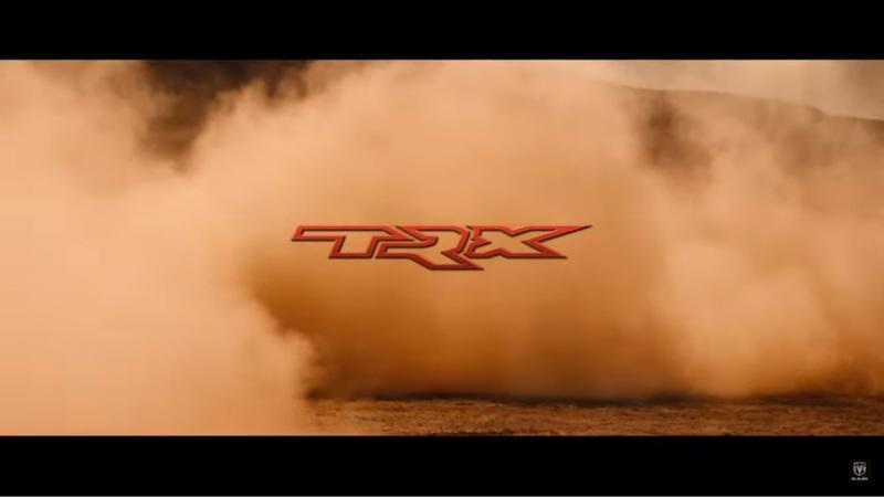The 2021 Ram Rebel TRX Was Teased Tearing Through The Desert In Its Natural Habitat