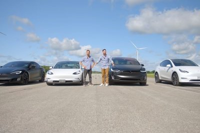 S3XY Drag Race Putting the Model 3 Up Against the Model X, Model Y, and Model S
