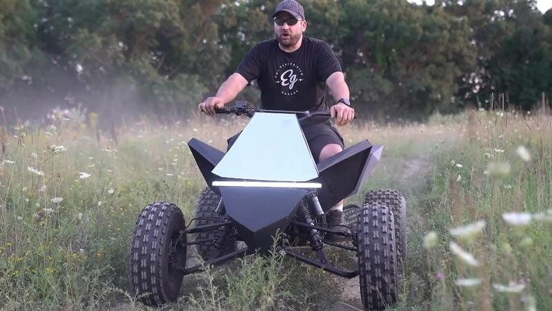 Someone Built Their Own Tesla Cyberquad, and It's Awesome