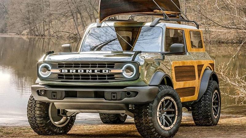 This 2021 Ford Bronco With Wood Trim is Oddly Mesmerizing