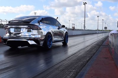 This Blinged-out Tesla Model X Runs a Quarter-Mile Faster Than a Porsche Carrera GT