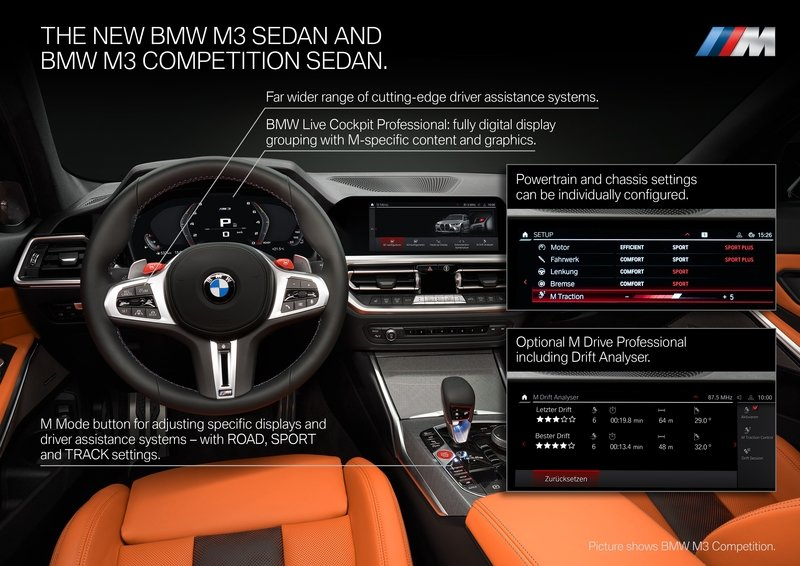 The BMW M3 and M4's Drift Analyzer Is The Coolest Useless Feature We've Ever Seen Interior - image 935324