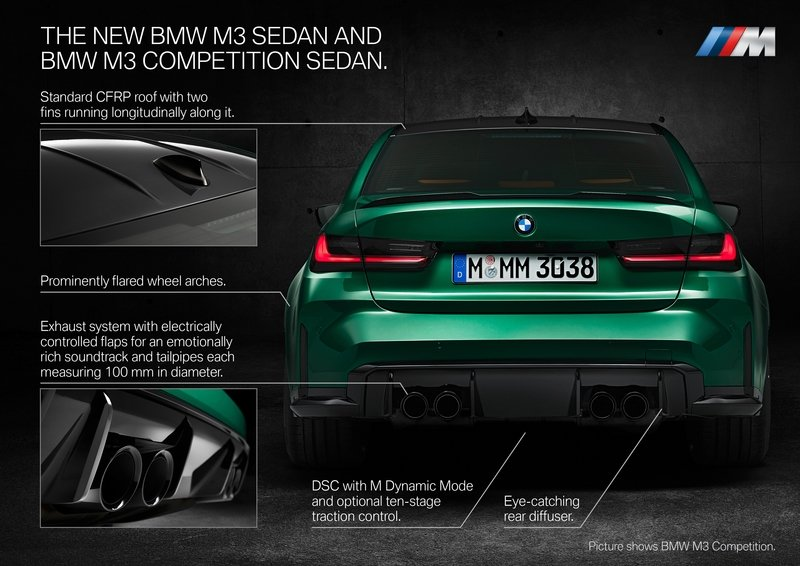2021 BMW M3 Competition Exterior - image 935325