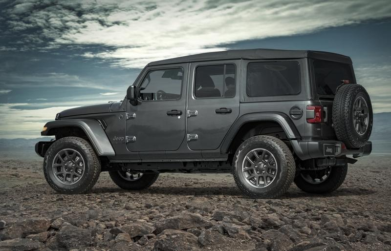 wrangler 80th anniversary jeep edition models special editions jk tecnotvhn turns pone gris released early gray door fca lineup down