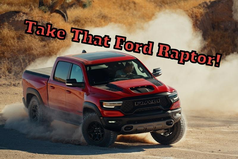A Hidden Ram TRX Easter Egg Hilariously Trolls The Ford F-150 Raptor
