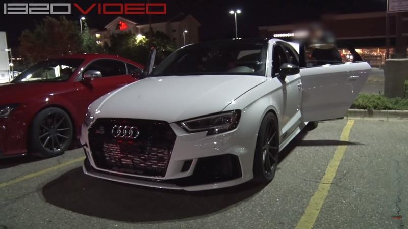 An Audi RS3 Rolling Down the Road, On Fire Is the Scariest Thing You'll See This Week