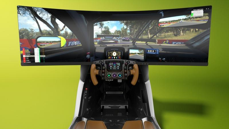 We'd Love to Play Forza Horizon In The Aston Martin AMR-C01 Racing Simulator