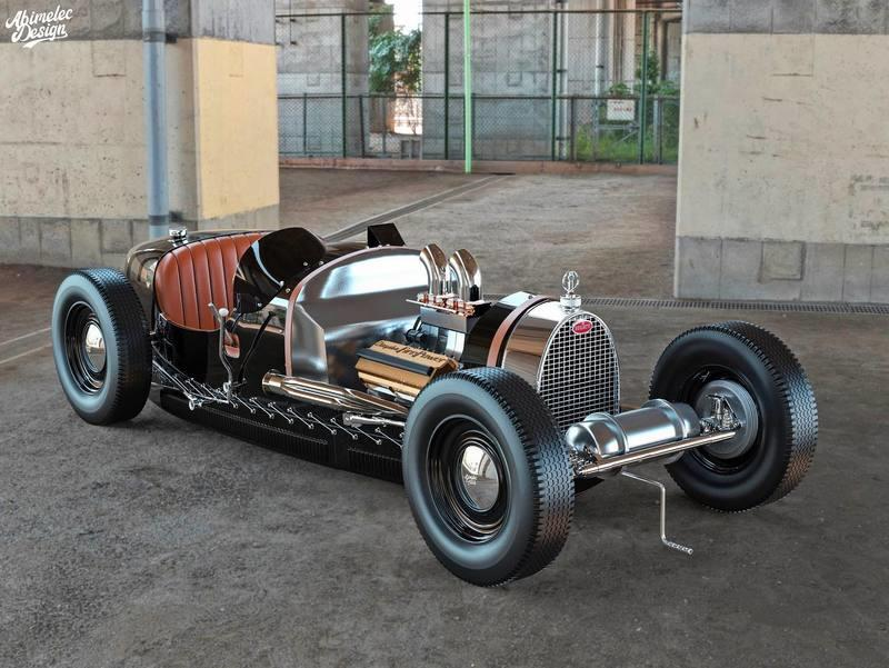 This Bugatti Type 35 Hot Rod Render Dances On the Border of Blasphemy