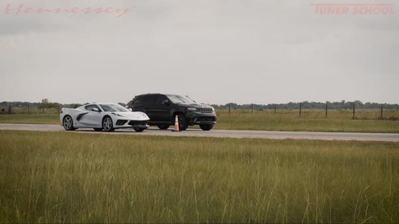 Hennessey's Over-Tuned Jeep Trackhawk Humbles the Chevy C8 Corvette