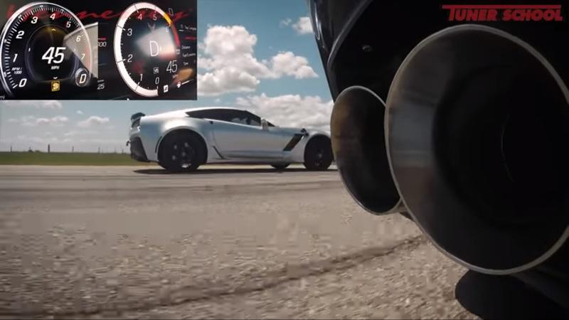 The C8 Chevy Corvette Is Easily Dominated by a Hennessey-Tuned C7 Corvette Z06