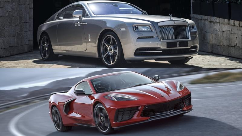 This Race Between a Chevy C8 Corvette and a Rolls-Royce Wraith Hardly Seems Fair