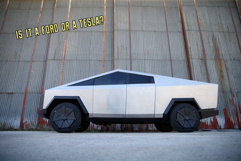 This Tesla Cybertruck Is Really A Ford F-150 Raptor Underneath