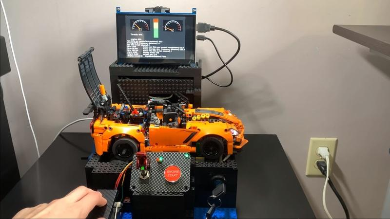 This Working, Electric Lego Corvette ZR1 is Downright Awesome