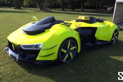 You Must Check Out This Quadbike With An Audi V-10 Heart