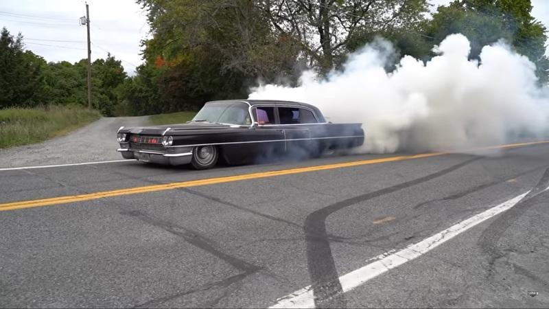 A Slammed, Turboed, 1964 Cadillac Limo, a Trailer, and a Burnout - Nothing Goes According to Plan