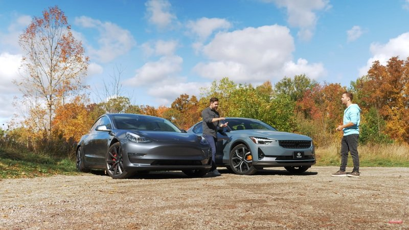 Battle of Silence: 2021 Polestar 2 vs. Tesla Model 3