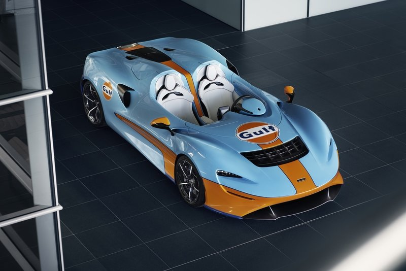The McLaren Elva Gulf Theme by MSO Showed Up At Goodwood SpeedWeek Exterior - image 941966