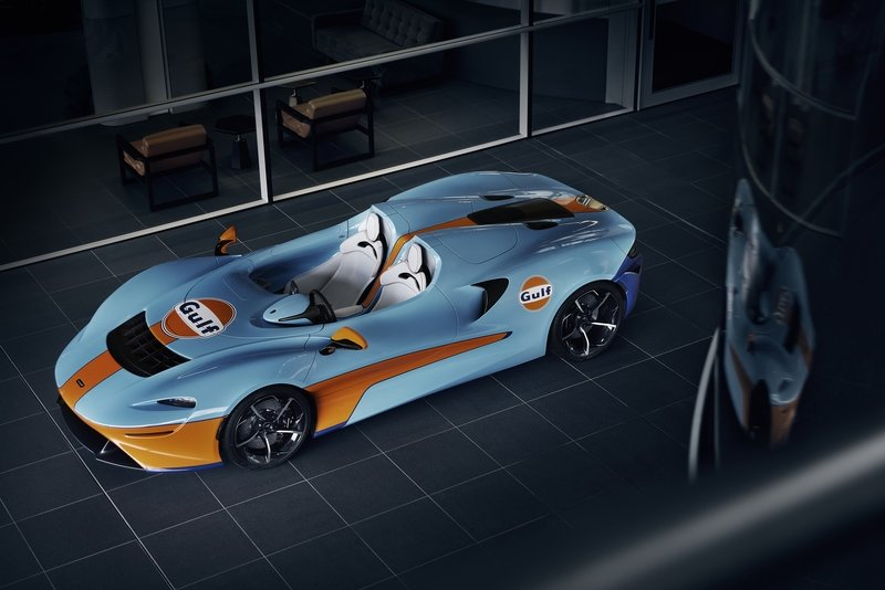 The McLaren Elva Gulf Theme by MSO Showed Up At Goodwood SpeedWeek Exterior - image 941968