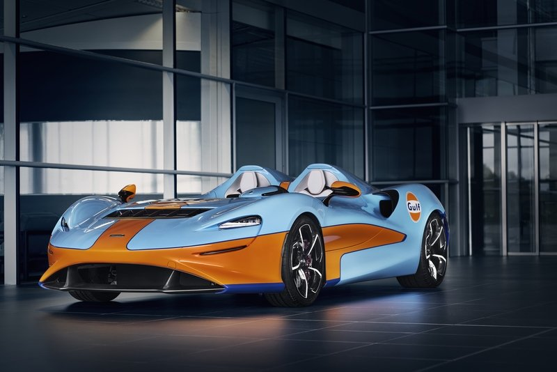 The McLaren Elva Gulf Theme by MSO Showed Up At Goodwood SpeedWeek Exterior - image 941969
