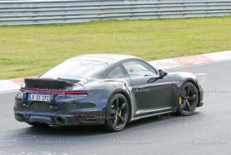 Porsche 911 Turbo Shows Its Ducktail In New Spy Shots