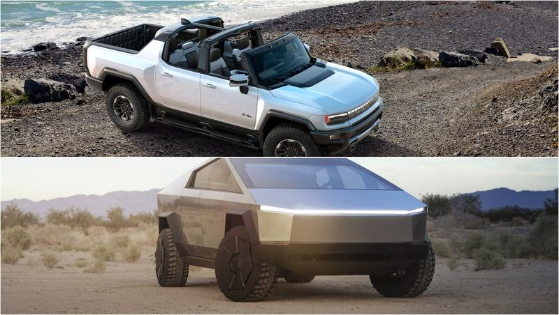 Quick Comparison: GMC Hummer EV vs Tesla Cybertruck