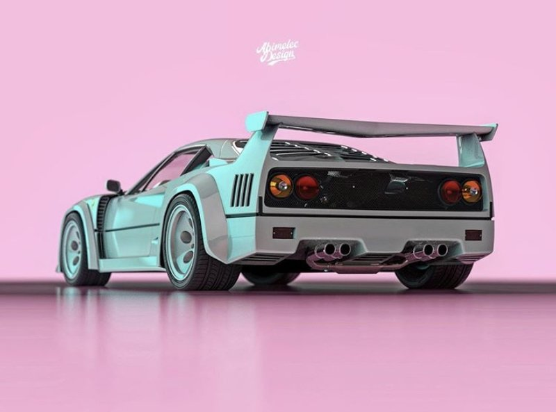 Someone Created the Love Child Between the Ferrari F40 and the Lamborghini Countach And It's Not That Shocking - image 938985