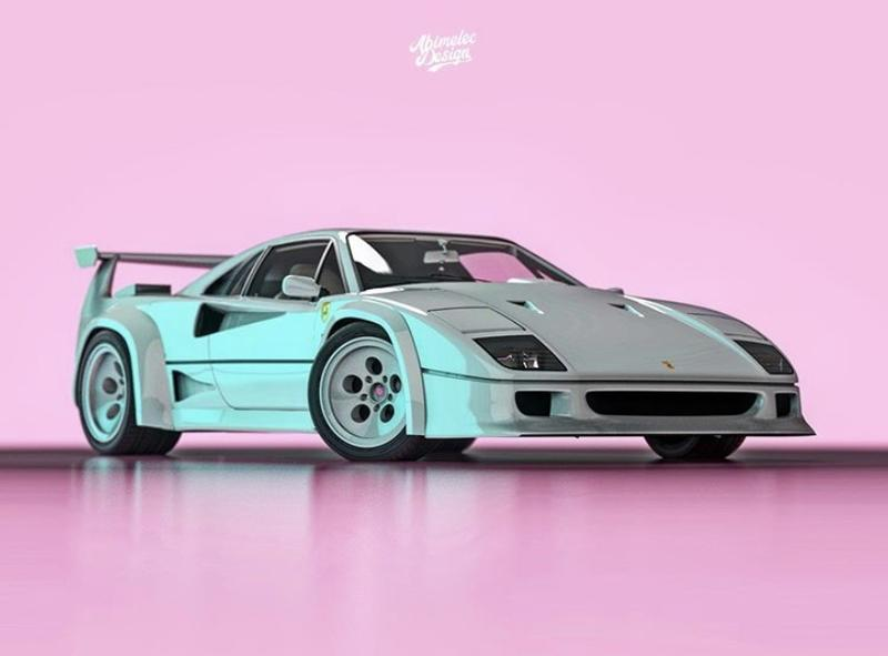 Someone Created the Love Child Between the Ferrari F40 and the Lamborghini Countach And It's Not That Shocking
