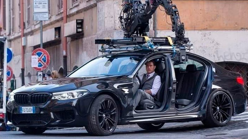 Tom Cruise and a Doorless BMW M5 Take the Mission Impossible Set By Storm