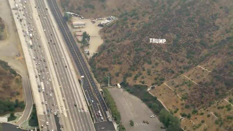 Trump Sign Off the 405 Torn Down by Officials