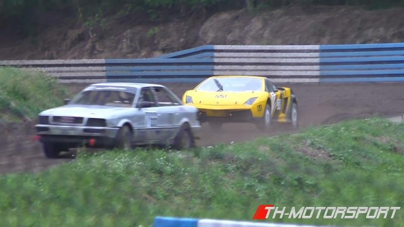 Watch a Lamborghini Gallardo and Audi 80 V8 BiTurbo Duke It Out Autocross Style
