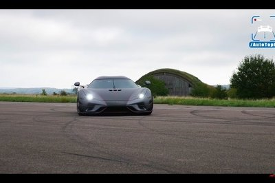 Watch the Koenigsegg Regera Twist Its Wheels Up to 186 MPH With Ease