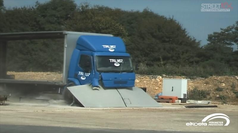 You'll Probably Love Watching These Trucks Smash Into Anti-Terrorist Barriers