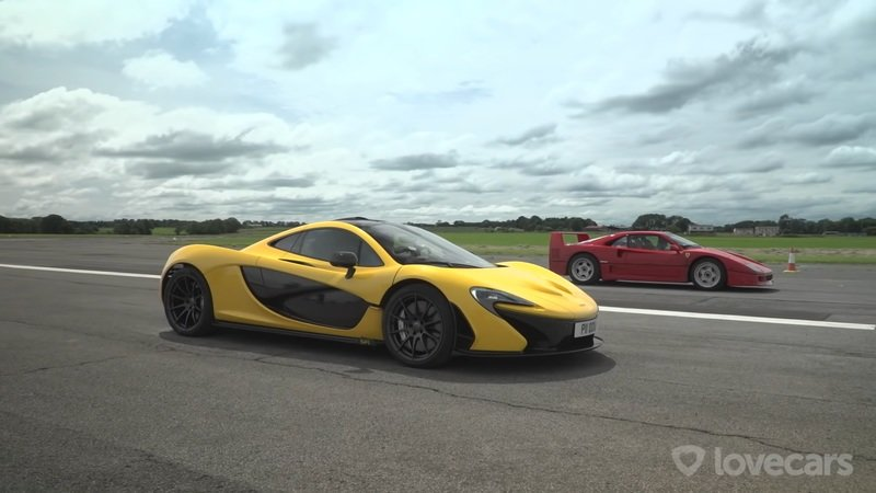 A Ferrari F40 and a McLaren P1? You HAVE To See This Drag Race