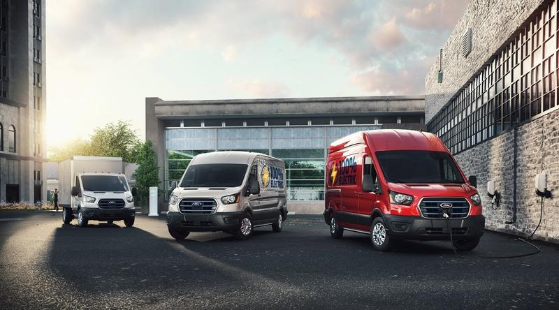 Ford Unveils The 2022 E-Transit Electric Van Exterior - image 947507