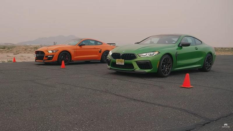Muscle Meets Sexy as the Shelby GT500 Dukes it Out with a BMW M8 Competition