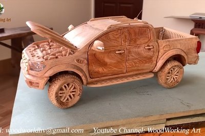 There's Something So Mesmerizing About Watching This Wooden Ford Range Raptor Come to Life