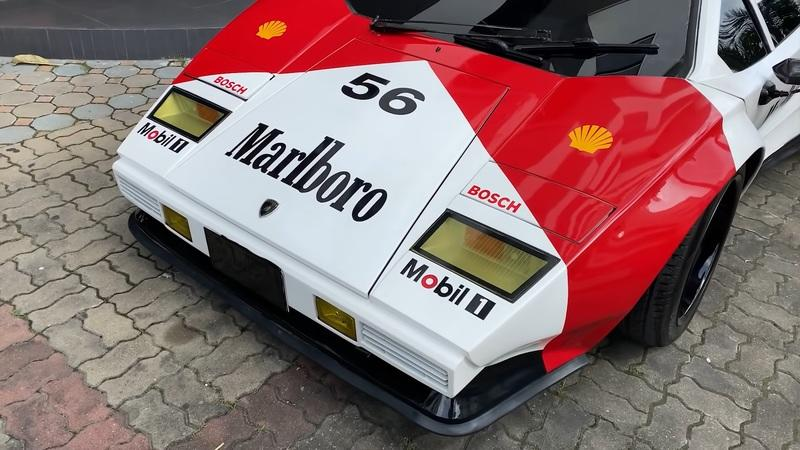 This Lamborghini Countach is Marlboro Red and Has a Lexus Twin-Turbo V-8