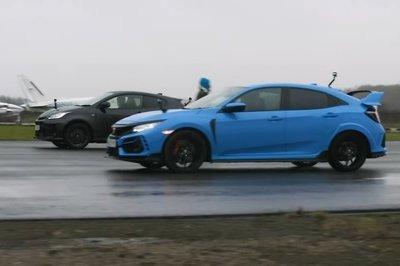 Toyota GR Yaris Takes on Honda Civic Type-R in a Wet Hot Hatch Throwdown
