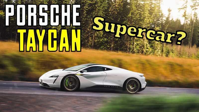 After Seeing This Rendering, We're Convinced The Porsche Taycan Should've Been A Supercar