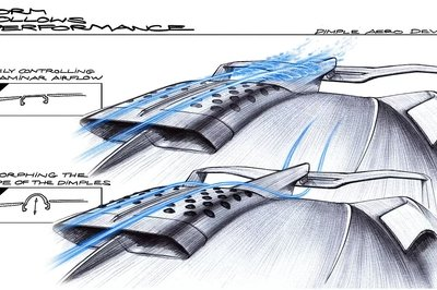 Here's How the Bugatti Bolide's Dimple Aero Device Works