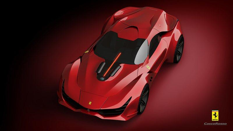 The Ferrari 812 Superfast Needs a Successor And This CascoRosso Rendering Is It Exterior Computer Renderings and Photoshop - image 959381