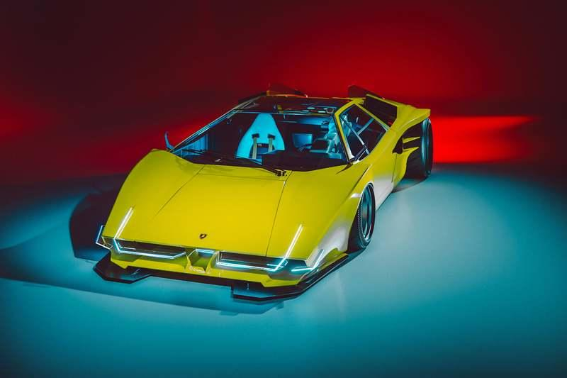 This EVE Lamborghini Countach Should Have Been In Cyberpunk 2077