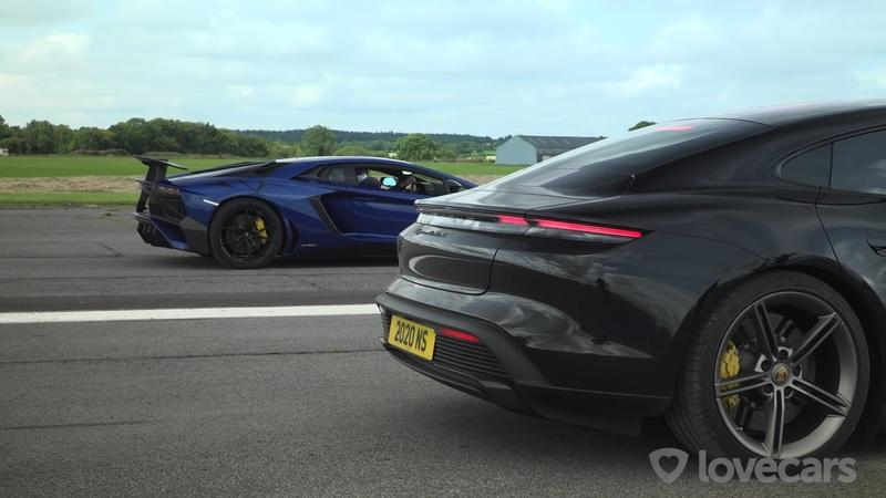 This Race Between a Lamborghini Aventador SV and a Porsche Taycan Turbo S Might Upset You - image 957394