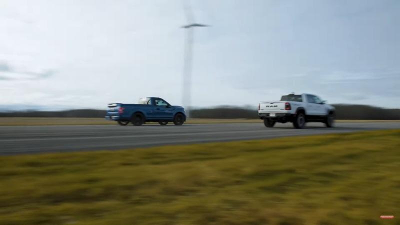 Watch The 2021 Ram 1500 TRX Take On The Shelby F-150 Super Snake Sport - image 960449