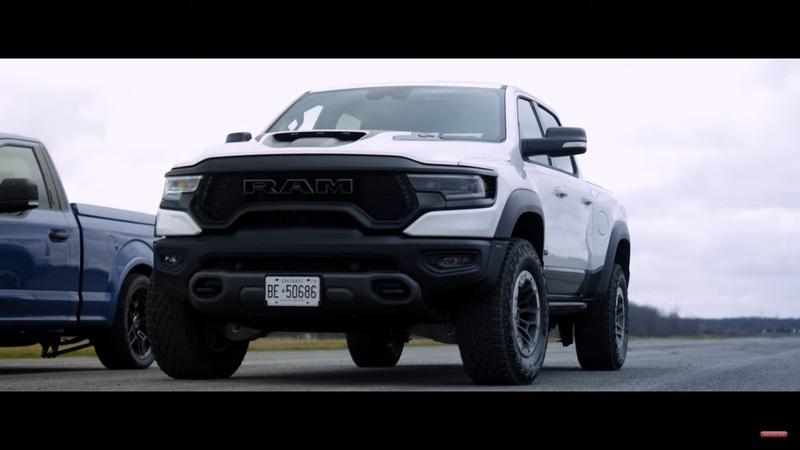 Watch The 2021 Ram 1500 TRX Take On The Shelby F-150 Super Snake Sport - image 960441