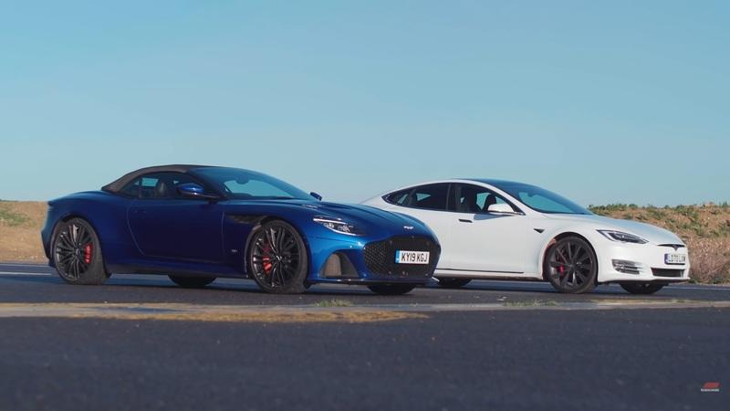 Can The Tesla Model S Really Take Down the Aston Martin DBS In A Drag Race?