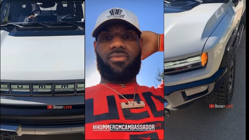 LeBron James Seems To Dig The 2021 Hummer EV