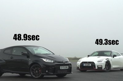 In the Right Conditions The Toyota GR Yaris Can Hold Its Own Against the Nissan GT-R Nismo