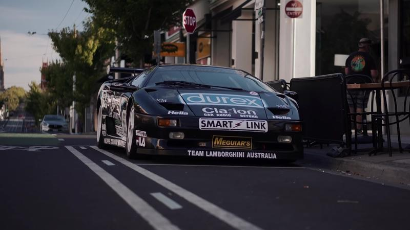 Nothing to See Here, Just a Lamborghini Diablo SV-R Race Car on the Road