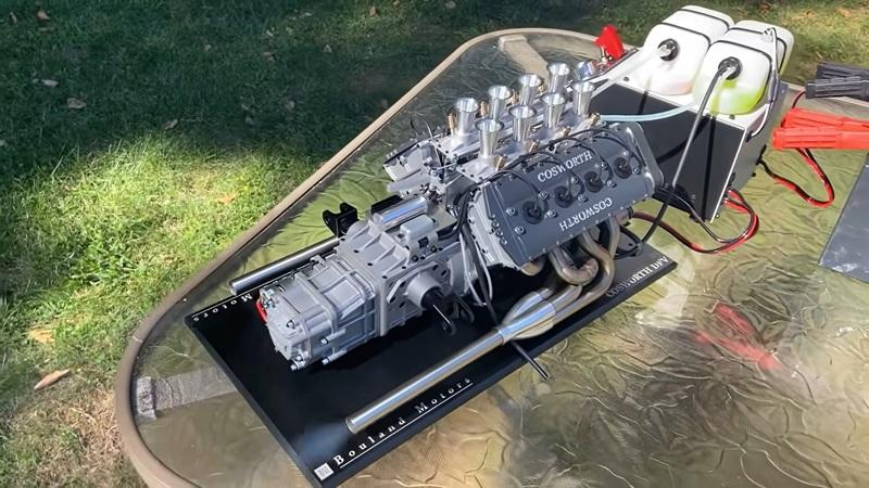 Someone Built A 1:3 Scale Cosworth DFV V-8 And It Sounds Awesome